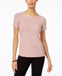 Jm Collection Jacquard T Shirt Only At Macy's New Pale Blush