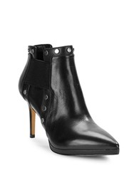 Karl Lagerfeld Amedee Leather Studded Booties Black