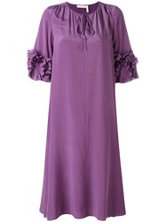 See By Chloe Shift Dress Women Viscose 44 Pink Purple