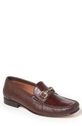 Sandro Moscoloni Men's Almeira Bit Loafer Brown Leather