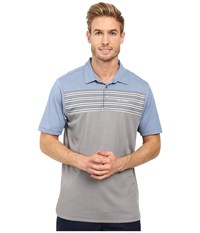 Travis Mathew Strub Polo Snorkel Blue Micro Chip Men's Clothing Gray