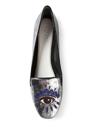 Kenzo 'Eye' Slippers Grey