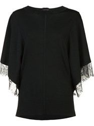 Adam By Adam Lippes Lace Trim Jumper Black