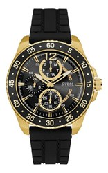 Guess W0798g3 Men S Rubber Strap Sport Watch Black