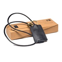 Kreafunk Cchain Leather Charging Cable With Keyring Black