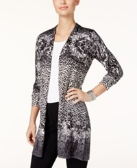 Jm Collection Petite Printed Duster Cardigan Only At Macy's Jungle Morph