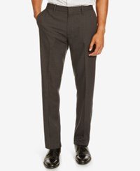 Kenneth Cole Reaction Men's Flat Front Neat Dress Pants Black Combo