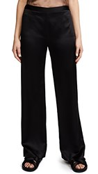 Jenni Kayne Satin Wide Leg Pants Black