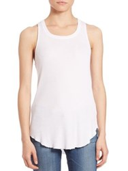 Cotton Citizen Melbourne Raw Edge Ribbed Tank Red Rock Silver Stone Vintage Black White
