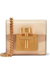 Oscar De La Renta Woman Micro Alibi Convertible Leather Shoulder Bag Blush