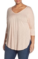 Plus Size Women's Two By Vince Camuto Scoop Neck High Low Tunic