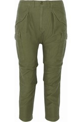 Nlst Cotton Canvas Tapered Pants Army Green