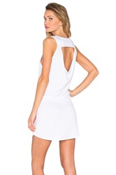 Chaser Drape Back Drawstring Mini Dress White