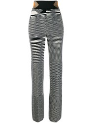 Missoni High Waisted Knitted Trousers Black