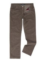 Howick Men's Cambridge 5 Pocket Cord Trouser Grey