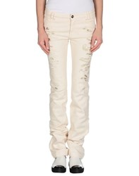 Blumarine Denim Denim Trousers Women Beige