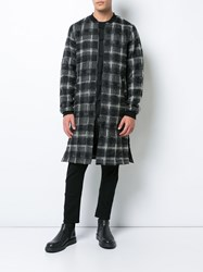 Private Stock Longline Plaid Ma 1 Jacket Polyamide Polyester Wool Xl Black