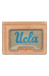 Men's Jack Mason Brand 'Gameday Ucla Bruins' Leather Card Case