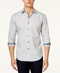 Tasso Elba Men's Big And Tall Malta Dot Print Long Sleeve Shirt Only At Macy's Mallard Combo