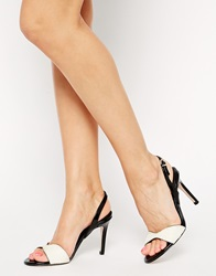 Reiss Leone Barely There Heeled Sandals Creamblack