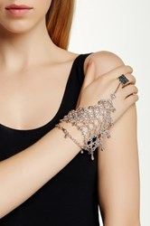 Eye Candy Los Angeles Mesh Hand Bracelet Metallic