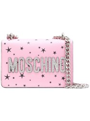 Moschino Space Teddy Mini Bag Pink And Purple