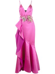 Patbo Tiered Bouquet Dress Pink