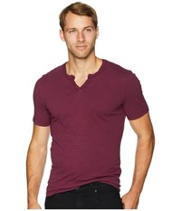 Mod O Doc Topanga Short Sleeve Notch V Neck Tee Mulberry T Shirt Purple