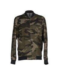 Tanomu Ask Me Coats And Jackets Jackets Men Military Green