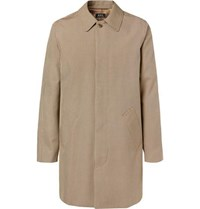 A.P.C. Findon Puppytooth Cotton Blend Coat Tan