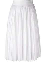 Givenchy Perforated Pleated Skirt White