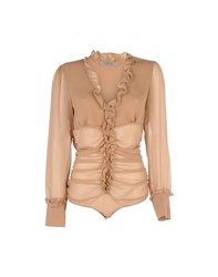 Toy G. Shirts Blouses Women Brown