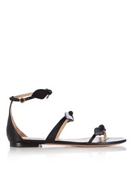 Chloe Mike Bow Front Leather Sandals Black