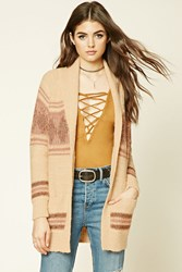 Forever 21 Abstract Print Shawl Cardigan