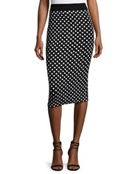 Michael Kors Polka Dot Pencil Skirt Black White Black White