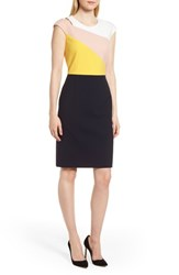 Boss Danouk Colorblock Dress Navy