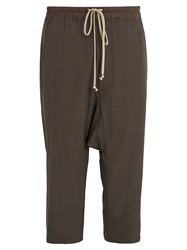Rick Owens Dropped Crotch Cropped Trousers Grey