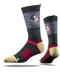 Strideline Florida State Seminoles Crew Socks Charcoal Maroon Old Gold