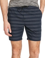 Kenneth Cole Straight Fit Cotton Shorts Indigo
