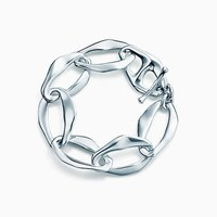 Tiffany And Co. Elsa Peretti Aegean Toggle Bracelet In Sterling Silver Small.