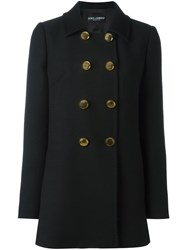Dolce And Gabbana Double Breasted Peacoat Black