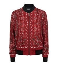 Just Cavalli Bandana Print Bomber Jacket Male Red