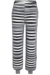 Missoni Cashmere And Silk Blend Tapered Pants Black