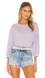 Velvet By Graham And Spencer Amara Top In Lavender. Lilac