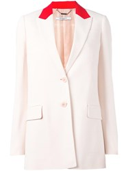 Givenchy Contrast Collar Blazer Pink Purple