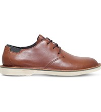 Camper Morrys Leather Derby Shoes Mid Brown