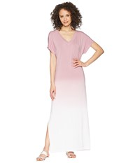 Hard Tail Every Day Tee Maxi Dress Ombre Wash 1 Pink