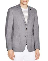 Michael Michael Kors Chambray Tailored Slim Fit Blazer Midnight Blue