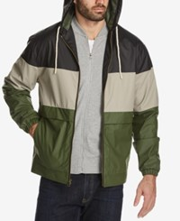 Weatherproof Vintage Men's Colorblocked Full Zip Hooded Jacket Created For Macy's Black