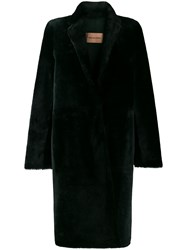 Yves Salomon Longline Shearling Coat 60